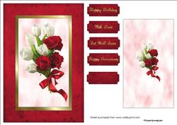 Roses & Tulips Spinner Card