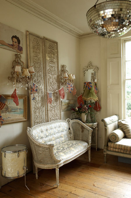 Shabby Chic Living Room. living-room · chandelier