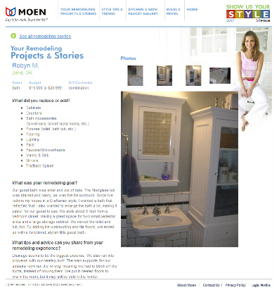 Moen Incorporated's Show Us Your Style Contest