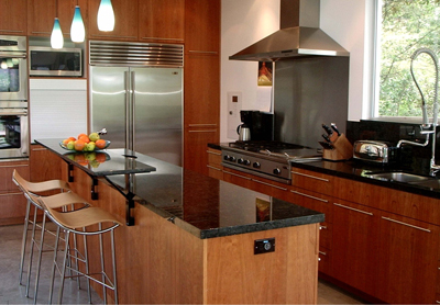 gourmet kitchen with granite countertops and stainless steel