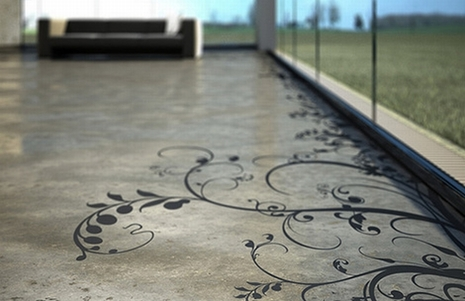 transparent house concrete art grey floor Elegant Art Patterns for Your Floor