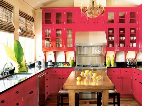 pink decor hot pink e1287999244380 How to Cure Your Boring Kitchen with Pink