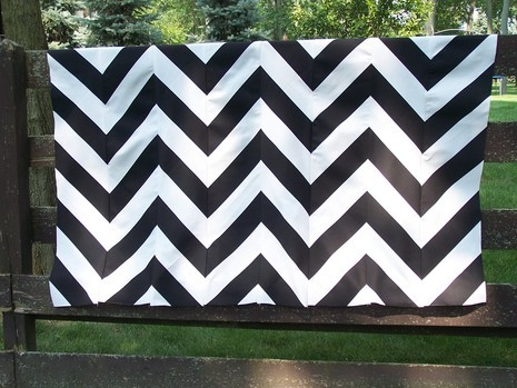 Chevron patterns are my inspiration for this makeover.