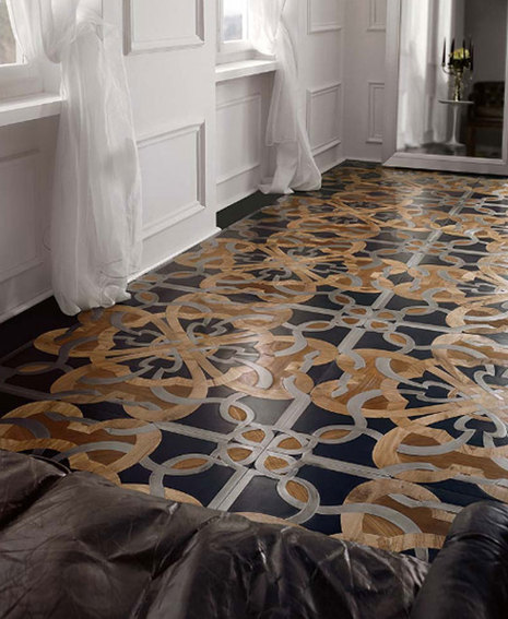 parchettificio wood floor mosaic calimala 1 Stylish Mosaic Flooring with a Traditional, Royal Touch