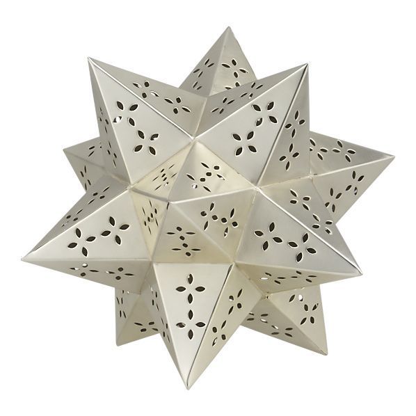 Credit: Crate and Barrel [http://www.crateandbarrel.com/holidays/christmas-decorating/small-silver-star/s678603]