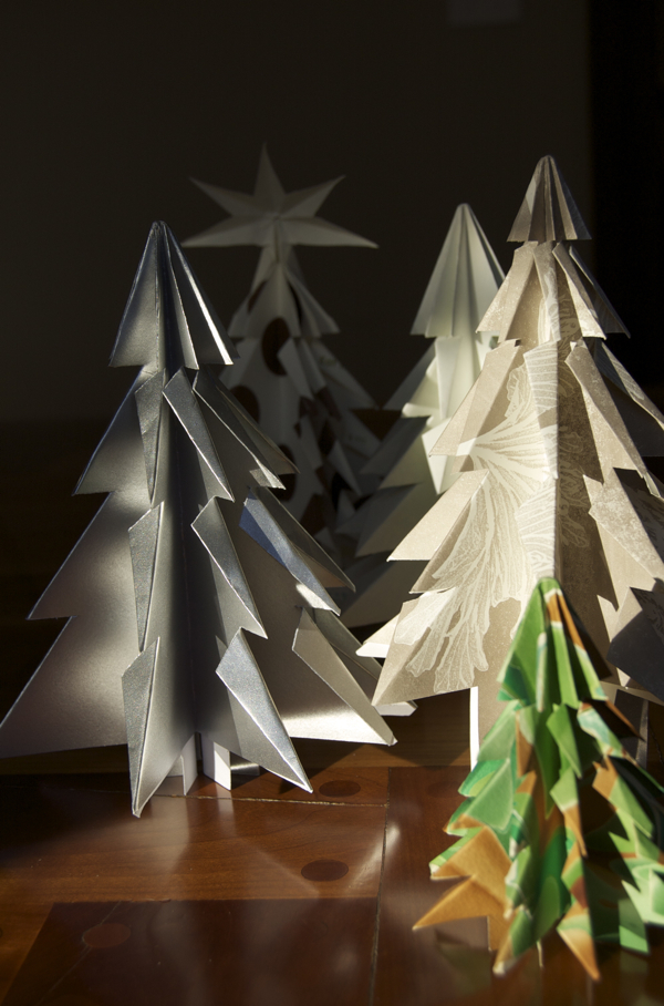 Kirigami paper Christmas trees are a quick and easy way to add a festive decor to your home.