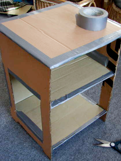 Jessifli01 make your own papier mache nightstand for Make your own end table