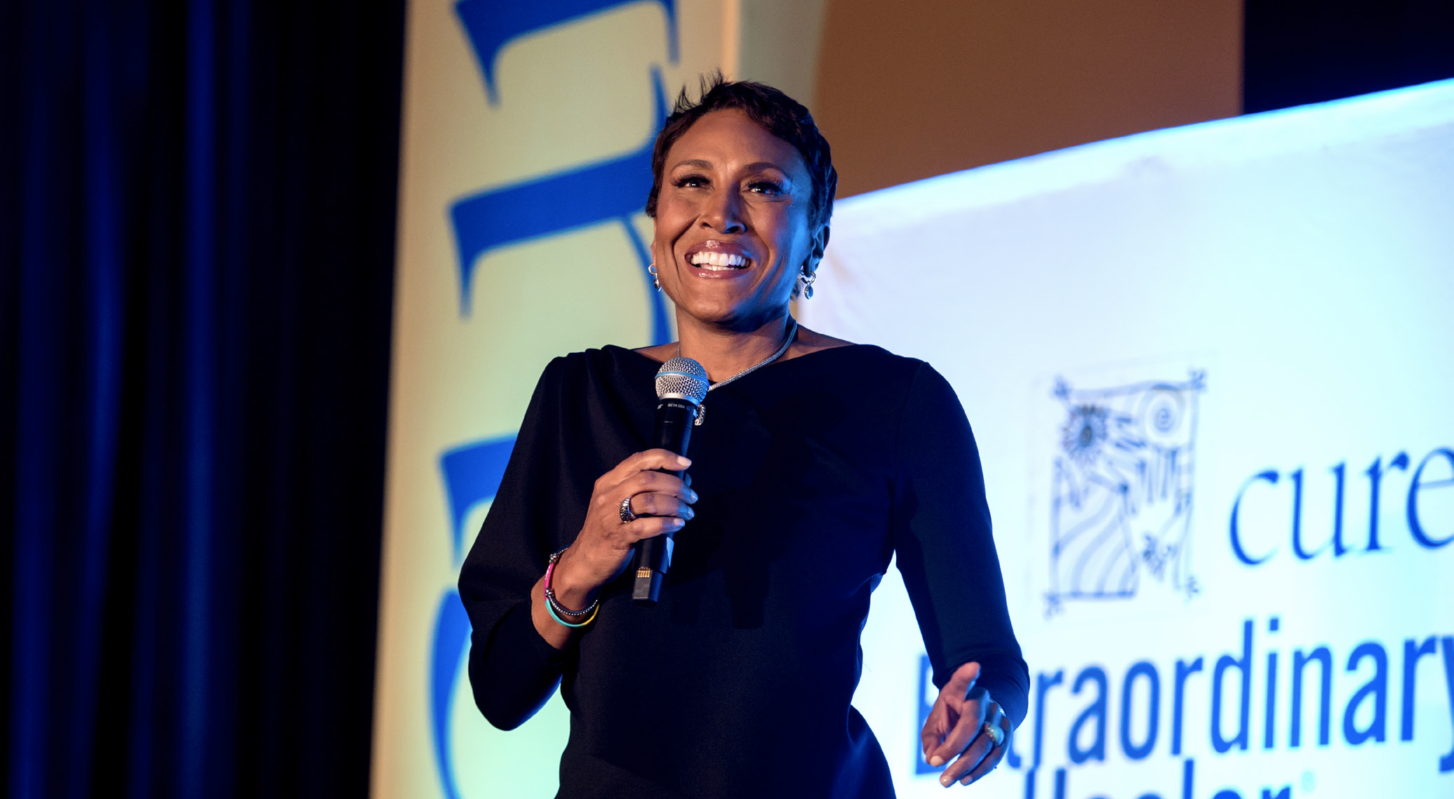 ROBIN ROBERTS speaks to the crowd at the 2018 Extraordinary Healer event. - PHOTO BY RICH KESSLER