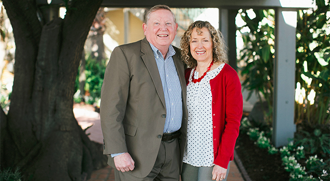 Kevin Richards with his wife, Dale, is living with IgM multiple myeloma, a rare subtype of the disease.