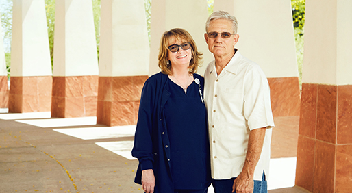 Carol Tomek, RN, OCN and Steven Oliver PHOTO BY BRANDON TIGRETT