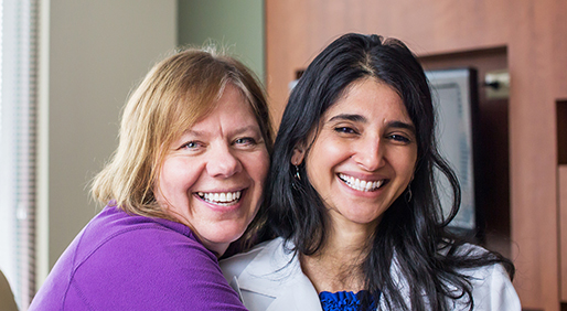 Cindy Kuechle, BSN, RN (left) and Revathi Suppiah, MD PHOTO BY KELLY PELOZA