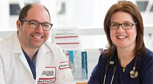 Jeffrey M. Farma, M.D., and Kim Gaier, RN  - PHOTOS BY KRISTA PATTON