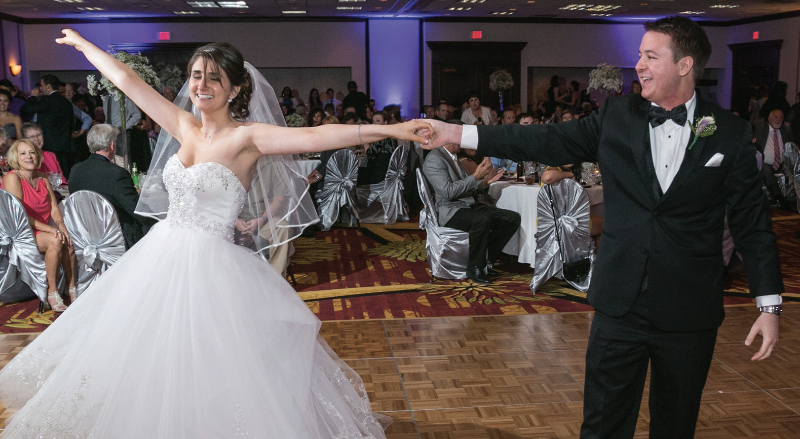 MATT HIZNAY dances with his wife, Ally, during their wedding reception on June 14, 2014. - COURTESY MATT HIZNAY / CIRINO PHOTOGRAPHY