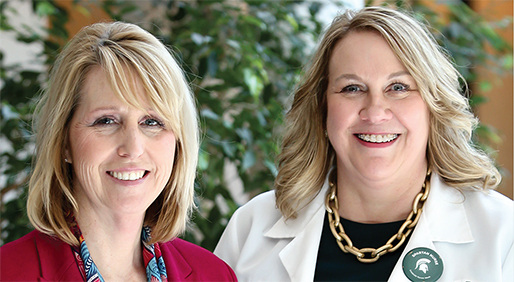 Jill Vondrasek, MBA, and Mary Smania, D.N.P., FNP-BC, AGN-BC  - PHOTOS BY KRISTY TAYLOR