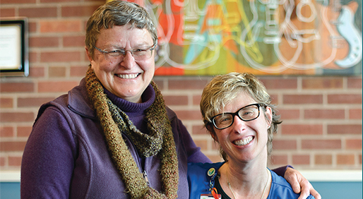 Susan Edgington and Joy Larimer, RN