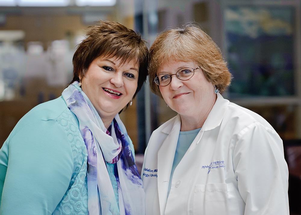 Rosemary E. Manbachi, CRNP and Carol Mallon, RN, MS, OCN PHOTO BY CHRISTINE CHARDO