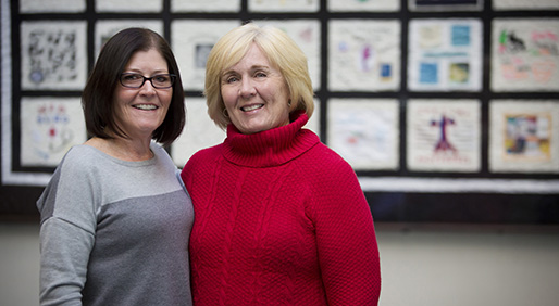 Angela Ness, RN and Lisa Barnes PHOTO BY JENNIFER SEAY CAMPBELL