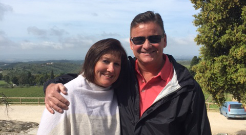 Patti and Mike Hennessy, Sr., visited Tuscany in spring 2017.