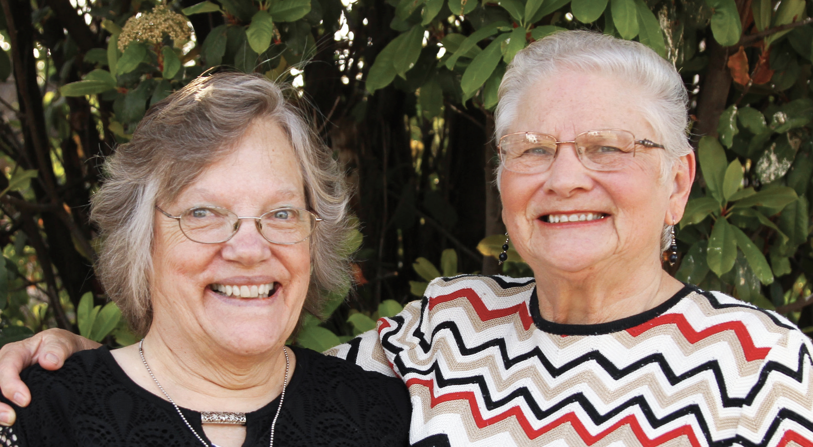 From left: Marilyn K. Stade and Sally Stade, RN