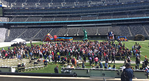 Patients, survivors, loved ones and members of the medical community gathered at MetLife Stadium for the event.