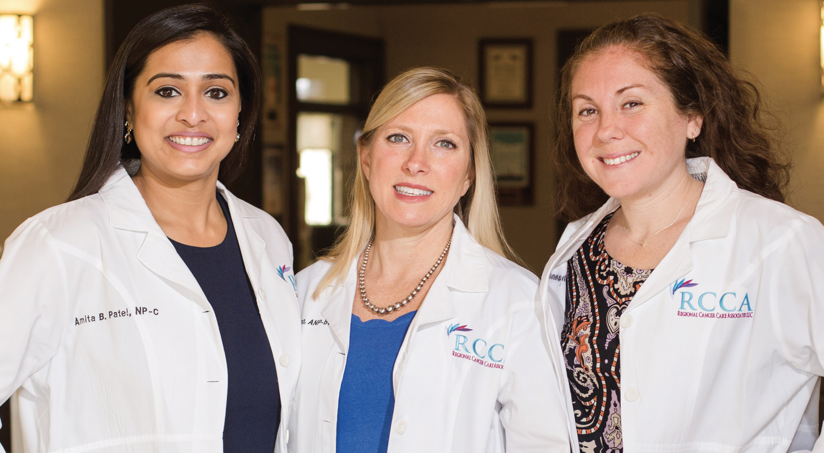 From left: Amita Patel, NP-C, AOCNP,
