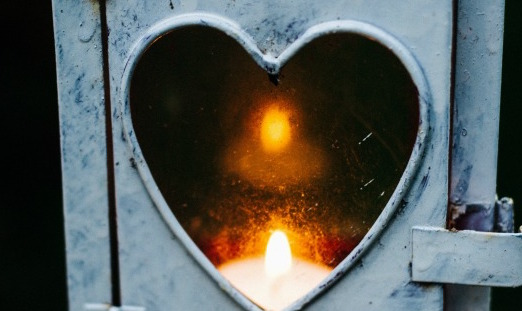 Candle in a heart