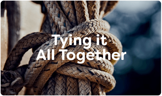 Ropes tied in a knot