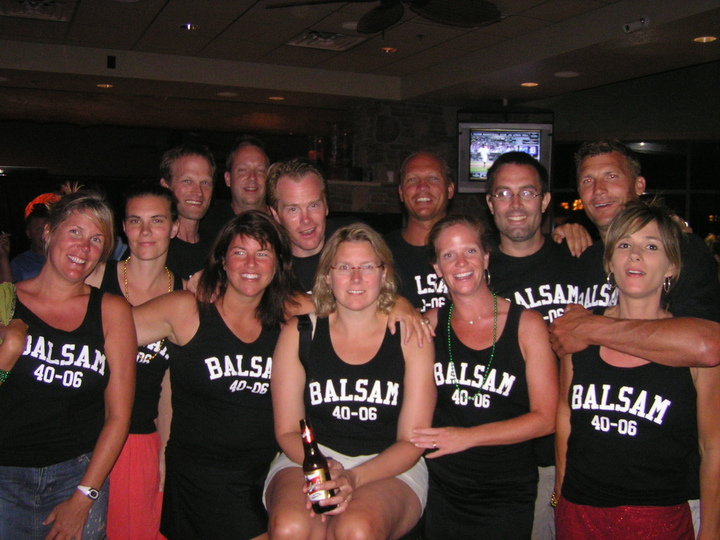 Balsam Buddies Turning 40 In 2006 T-Shirt Photo