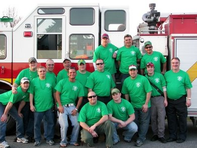 Cp Fire St. Patrick's Day Night Parade 2010 T-Shirt Photo