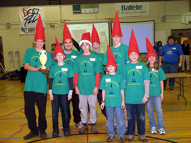 Gothic Lawn Gnomes  Fll Team T-Shirt Photo