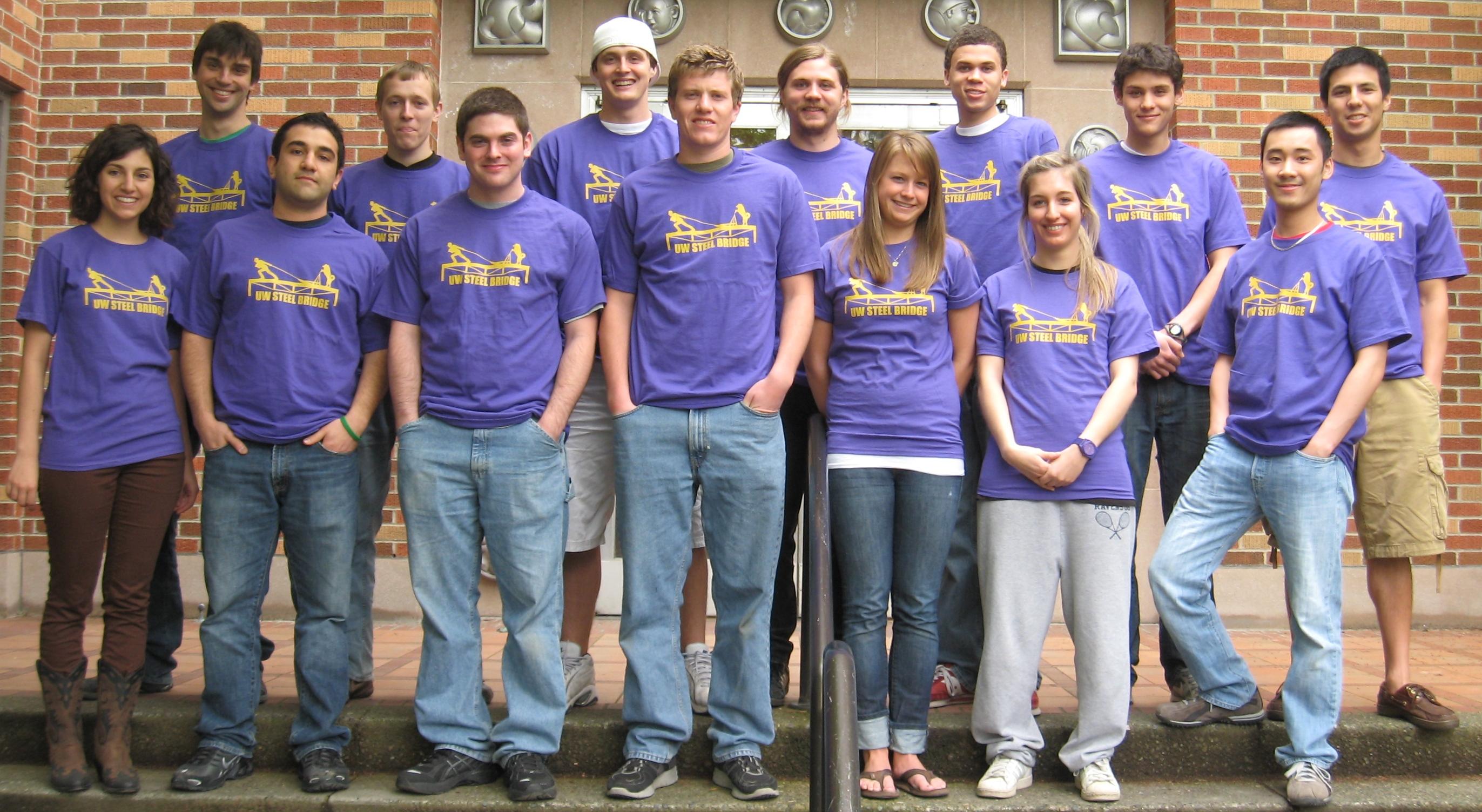 Design t shirt civil engineering - Uw Steel Bridge Team T Shirt Photo