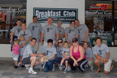 Team Innes & Meehle Getting Ready For Aids Walk Orlando 2010 T-Shirt Photo