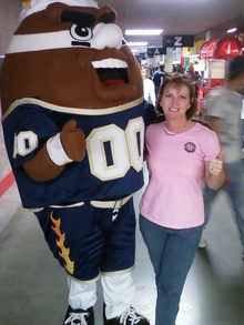 Jessica & Torch @ Tri Cities Fever Football T-Shirt Photo