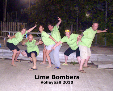 Lime Bombers Volleyball 2010 T-Shirt Photo