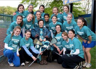 Cranford Varisty Lacrosse Ovarian Cancer Fundraiser T-Shirt Photo