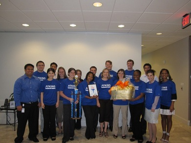 Atkins Corporate Game Winners T-Shirt Photo