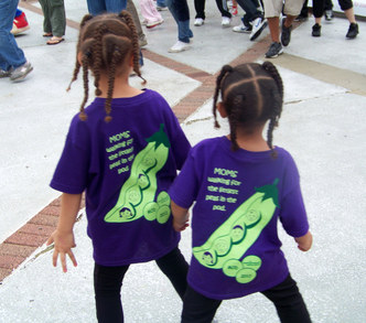 Girls Posing In Their March Of Dimes Team Shirts T-Shirt Photo