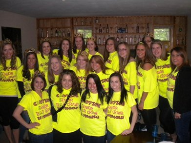 Caution! Senior Bar Crawl In Progress T-Shirt Photo