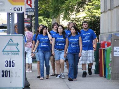 Enka High Design Club Takes Raleigh By Surprise! T-Shirt Photo