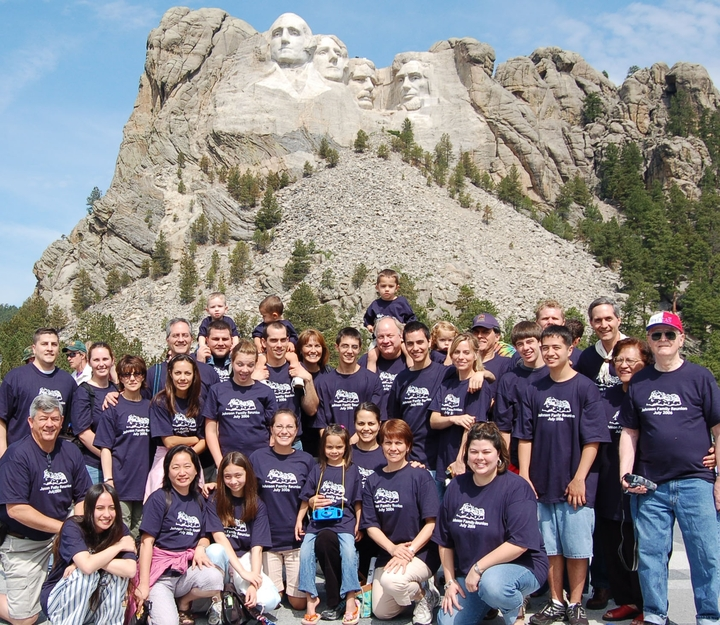 The Johnson Family Invades Mount Rushmore T-Shirt Photo