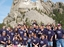 Whole family at mt rushmore