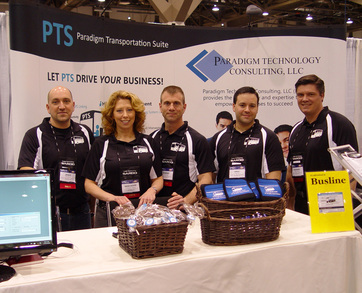 Ptc Group At United Motorcoach Expo In Vegas 2010 T-Shirt Photo