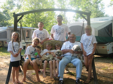Bubba And The Grandkids T-Shirt Photo