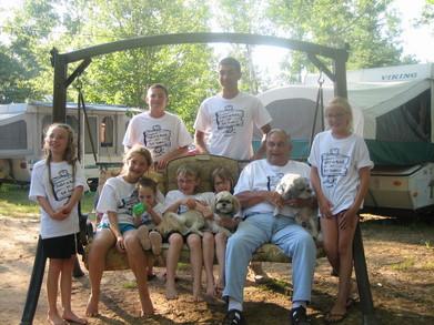 Bubba And The Grandkids T-Shirt Photo