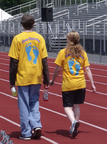 Walking At Relay For Life T-Shirt Photo
