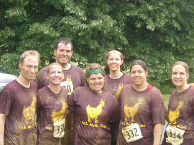 Team Mama Llamas At The Ms Mud Run T-Shirt Photo
