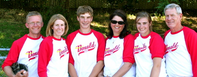 Father's Day Softball Game T-Shirt Photo