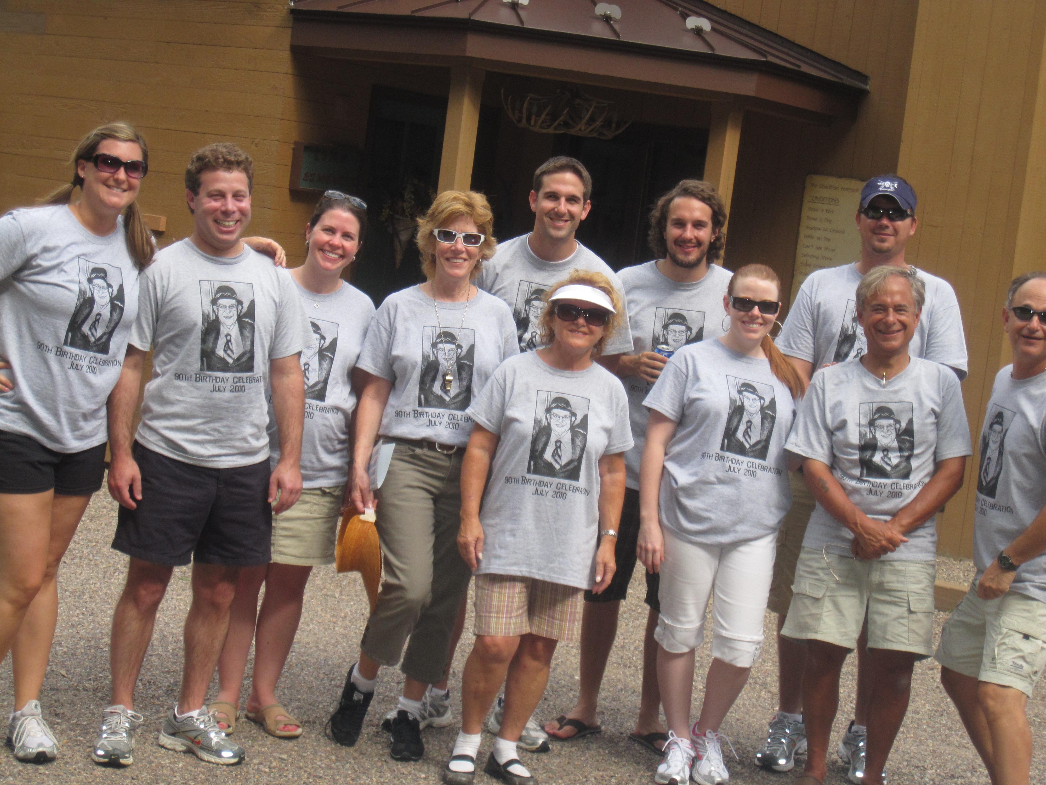 Design your own t-shirt birthday party - 90th Birthday Bash T Shirt Photo