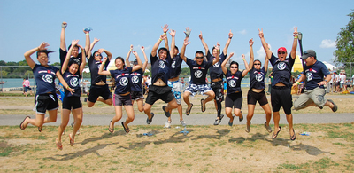 United East Dragon Boat Jumps For Joy! T-Shirt Photo