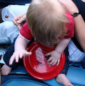 Corban Checks Out His New Frisbee T-Shirt Photo